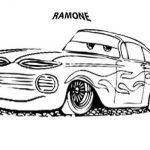 Ramone cars coloring page free