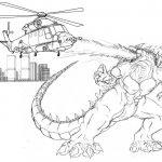 Godzilla coloring