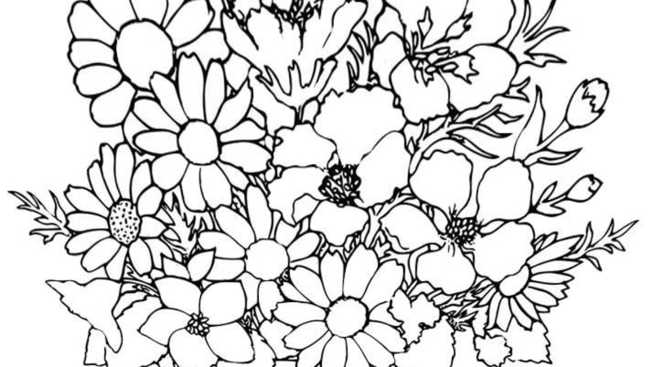 hard flower coloring pages - timeless-miracle.com