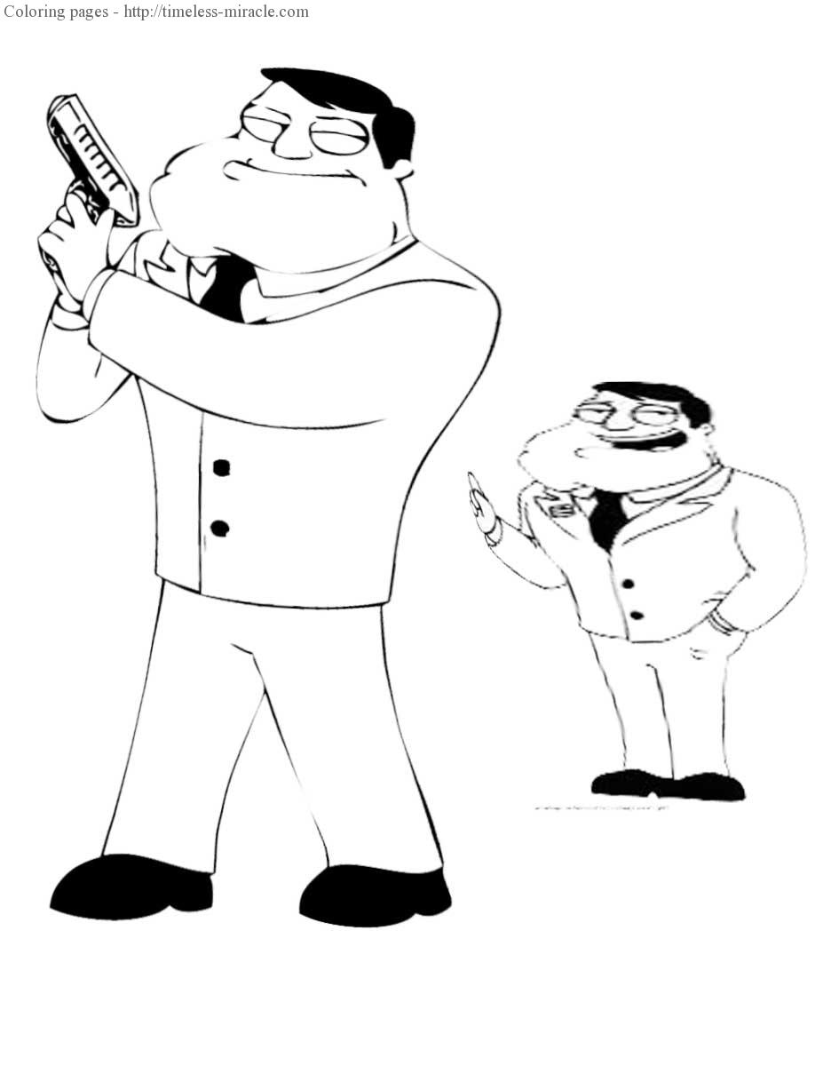 American dad coloring pages rel.2
