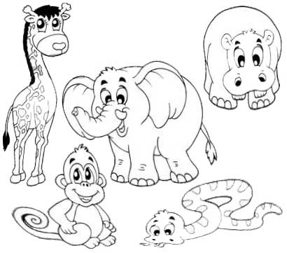 Animal coloring
