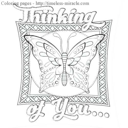 Thinking of you coloring page