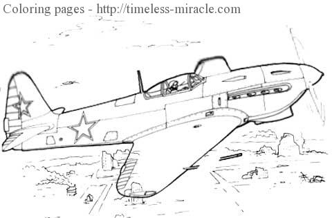 World war 2 planes coloring page 2