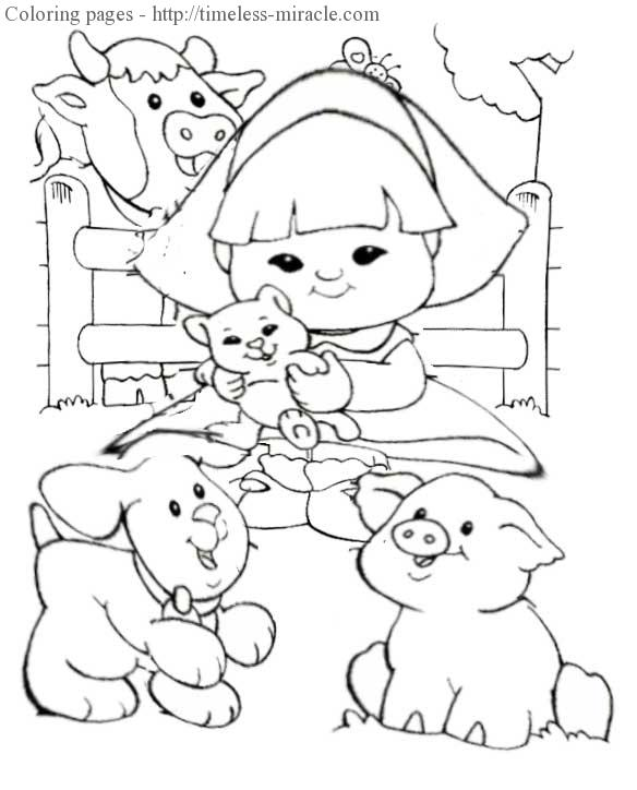 Fisher price coloring pages