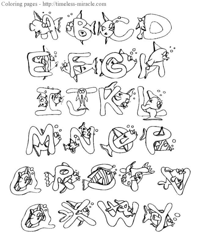 Full page alphabet letters