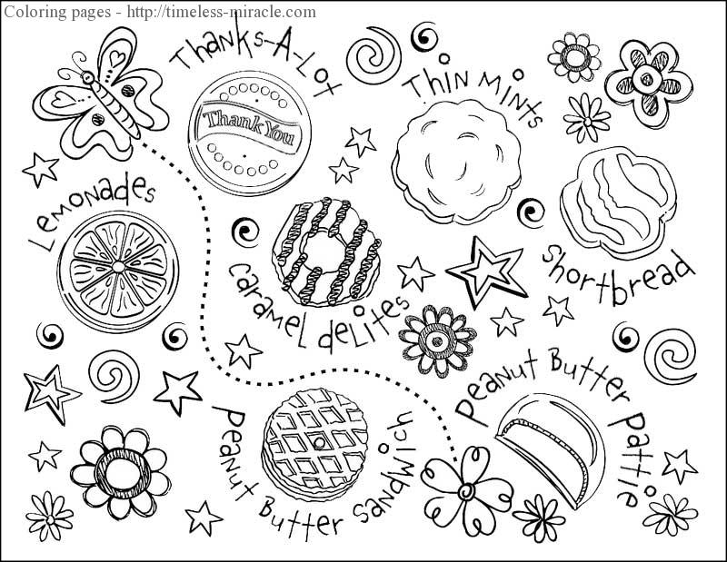 girl scout cookie coloring sheets