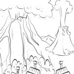 volcano coloring pages release