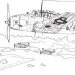 World war 2 planes coloring pages
