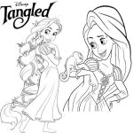Disney princesses coloring page free