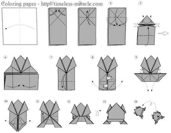 Origami Frog Instructions Printable - Timeless-miracle.com