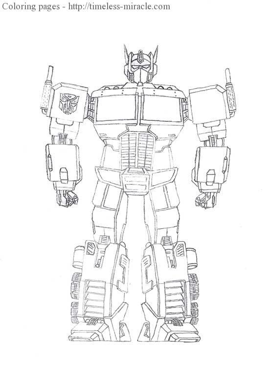 transformers coloring sheet
